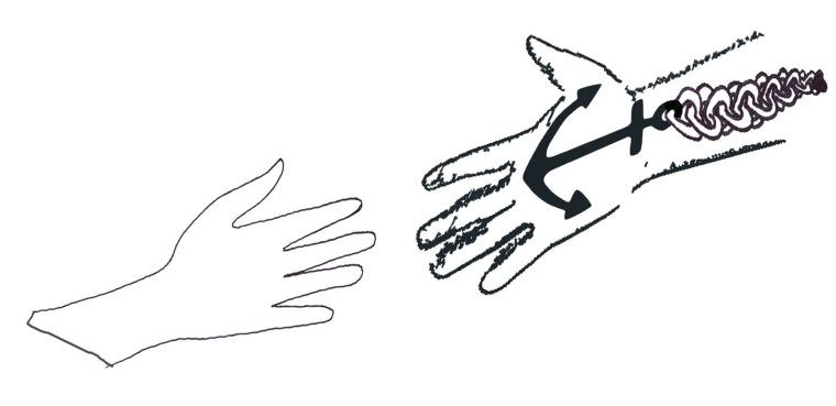819 Hands Anchor Me 6in